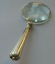 Yates Bros  Hallmarked Sterling Silver Handle Magnifying Glass Sheffield 1923