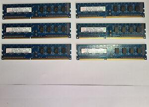 6x 1GB Kit Hynix HMT112U6DFR8C-H9 PC3-10600U 1Rx8 DDR3 Computer Memory RAM