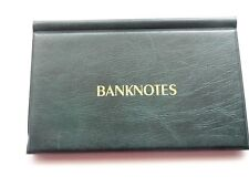 BANKNOTE ALBUM  WALLET FOR 20 BIG BANKNOTES ( GREEN )