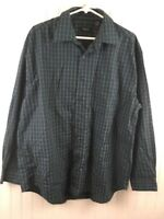 Van Heusen Men's Size Large Button Down Plaid Long Sleeve Collared Shirt x63