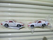 Mattel Hot Wheels 2 1990 GETTY GAS PROMO NISSAN 300ZXs WHITE + UNPAINTED BASES