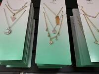 Lot Of 25 Fashion Jewelry Earrings, Necklaces, Chokers Wholesale USA Seller New
