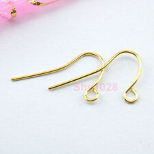 500Pcs Gold Plated Earring Ear Wire Hooks 21mm A6266