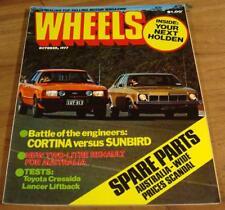 1977.WHEELS.Sunbird Cortina.ROLLS ROYCE Silver Shadow.Chrysler LANCER.Cressida