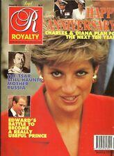 UK ROYALTY MAGAZINE Vol 10 No.11 Aug 1991 Edward, Diana & Charles 10th Anniv.