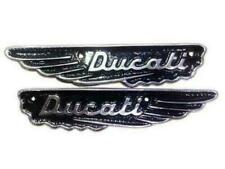New Pair Ducati Scrambler Petrol Gas Fuel Tank Badge Motif Emblem AlloyVintage