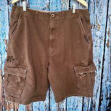 """Size 36 VANS Off The Wall Hefty Cargo Shorts Darkk Brown 10.5"""" Inseam Marks Side"""