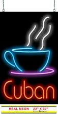 "Cuban Coffee Neon Sign | Jantec | 22"" x 37"" 