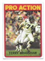 Terry Bradshaw Football Card 1972 Topps #120 In Action Pittsburgh Steelers HOFer