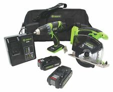 "Greenlee Combo Kit 14.4-Volt Drill + 5-3/8"" Metal Cutting Circular Saw Panasonic"