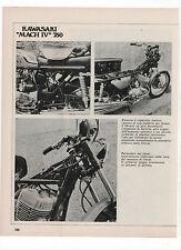 Pubblicità 1971 KAWASAKI MACH IV 750 MOTO MOTOR advertising werbung publicitè