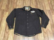 MENS MEDIUM - Vtg Carhartt S96 Canvas Flannel Lined Metal Snaps Shirt Jacket