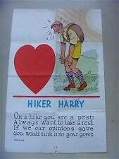 Vinegar Valentine Penny Dreadful HIKER HARRY 1930s vintage