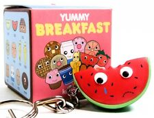 Kidrobot Yummy Breakfast SAD CRYING WATERMELON Keychain Zipper Pull Vinyl Figure