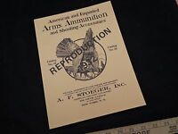 NOS 1983 REPRODUCTION A.F. STOEGER CATALOG #18 1932 GUNS & SHOOTING ACCESSORIES