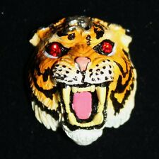 Authentic Muay Thai Amulet LP Pern Magic Tiger Head Yant Trakud Protection Luck