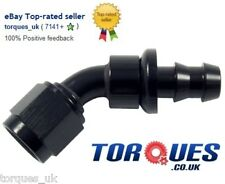 AN -6 (AN6) 45 Degree Push-On Fuel Hose Fitting Black
