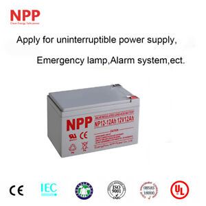 NPP 12V 12 Ah Rechargeable SLA Battery Replace UB 12120 PS-12120  With F2