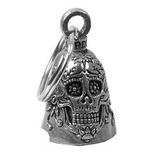 Clochette porte-bonheur Tête de mort Mexicaine Skull Lady Iron Guardian Bell