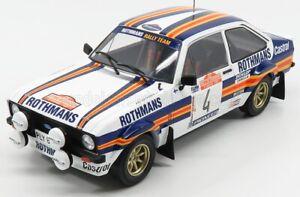 IXO 1/18 ROTHMANS FORD ESCORT MKII MK2 RS1800 #4 RALLY SAN REMO 1980 ARI VATANEN