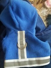 New listing Doggles Dog Sweater Harness Dog Hoodie Blue Has Reflective Trim & Lease Loop Xxs