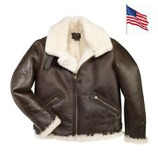 Blouson Bombardier B9 Mouton American Shearling Cockpit USA Avirex MADE IN USA