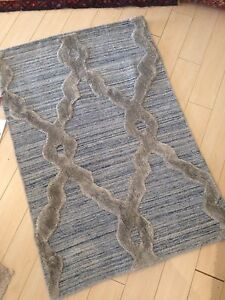 Spectacular Hand Made Area Rug 2'x3' New Beni Ourain Moroccan rug hand Made Blue