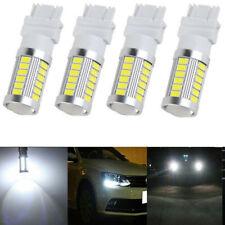4Pcs White 3157 33SMD 5730 LED Bulbs Tail Brake Backup Reverse Turn Signal Light