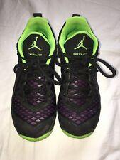 Jordan Extra Fly Big Kids 854550-002 Black Green Basketball Shoes Youth Size 4.5