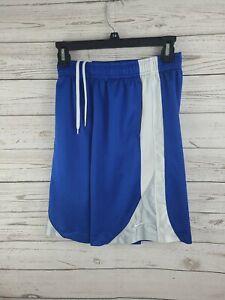 Youth Nike Dri Fit Basketball Shorts Size M Medium Blue Pockets Drawstring EUC