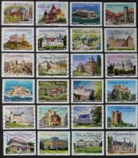 FRANCE 2012 CHATEAUX ET DEMEURES HISTORIC HOMES & CASTLES SET OF 24 USED (D444Y)