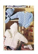Knitting Patterns Baby/Toddlers Cardigan Hooded Jacket Hat Mitts 0-7yr DK ±pa493