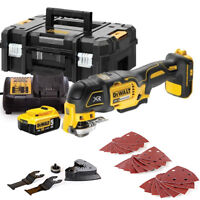 Dewalt DCS355N 18V MultiTool With Acc. + 1 x 5Ah Battery, Charger & T-Stack Case