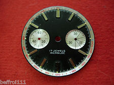 Cadran montre watch chronographe,dial landeron 48 148, 248  diam 31,8 mm n10