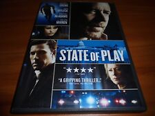 State of Play (DVD, Widescreen 2009)  Russell Crowe, Ben Affleck Used