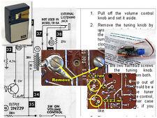 Toshiba 6TP-309 Vintage Transistor Radio Electrolytic Capacitor Recap Kit
