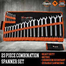 23pcs Combination Spanner Set Metric Ring Open End Wrench 6-32mm CR-V Canvas Bag