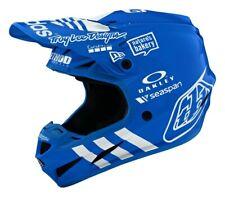 Troy Lee Designs SE4 COMP Adidas LE Blue White Motocross Offroad Helmet Adults