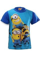 Officially Licensed DESPICABLE ME MINIONS BLUE T-SHIRT Short Sleeve AGE 6-12 YRS