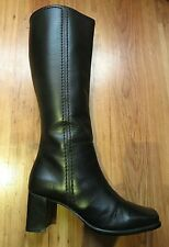Near immaculate KIT Black Leather Knee High Boots sz 6