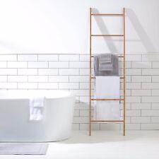 Decorative Display Bamboo Ladder Towel Rack  182cm x 50cm x 3.5cm Natural Brown