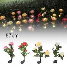 LED Solar Power Flower Lamp Outdoor Stake Party Lily Rose Light Garden Lighting