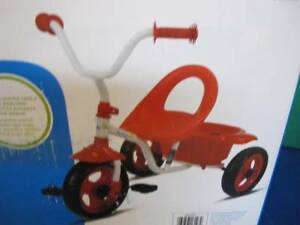 SAFETY 1ST FIRST CHILD'S BOY GIRL TRICYCLE TRIKE FRONT FENDER REAR BIN RED WHITE