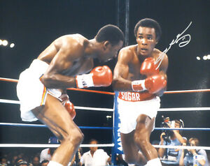 SUGAR RAY LEONARD AUTHENTIC AUTOGRAPHED SIGNED 16X20 PHOTO BECKETT 177703