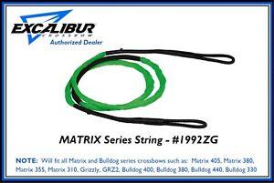 EXCALIBUR Matrix Series Crossbow String Zombie Green 1992ZG Authorized Dealer