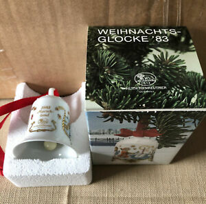 Hutschenreuther Weihnachtsglocke 1983 mit Originalverpackung und sonstige