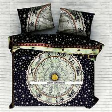 Duvet Cover With Pillows Zodiac Sun Moon Bedsheet Blanket Queen Size Tie-Dye Art