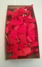 New listing 001B Lot of Red Christmas Bows Ribbons Crafts