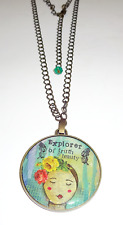 DEMDACO STUDIO KELLY RAE ROBERTS MEDALLION NECKLACE EXPLORER OF TRUTH AND BEAUTY