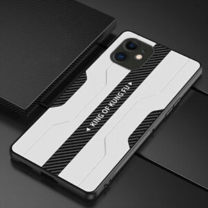 MOBILE PHONE CASE IPHONE 7 8 11 12 X XR XS PRO MAX WHITE/BLACK KUNG FU KING MENS